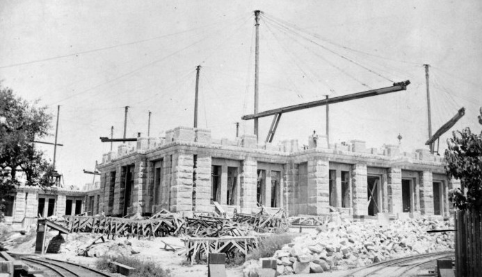 Texas State Capitol under construction